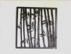 Bali Wholesale Metal Wall Art Bamboo Wall Decor