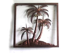 Bali Wholesale Metal Wall Art coconut Wall Decor